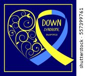 world down syndrome day. symbol ... | Shutterstock .eps vector #557399761