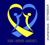 world down syndrome day. symbol ... | Shutterstock .eps vector #557400019