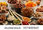 composition with dried fruits... | Shutterstock . vector #557400565