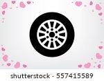 car wheel icon vector... | Shutterstock .eps vector #557415589