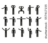 stick figure set | Shutterstock .eps vector #557417155