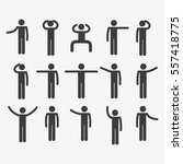 stick figure set | Shutterstock .eps vector #557418775