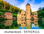 beautiful romantic castle... | Shutterstock . vector #557419111