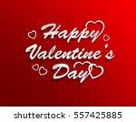 happy valentine's day   Shutterstock . vector #557425885