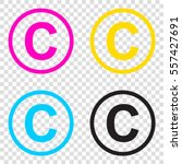 copyright sign illustration.... | Shutterstock .eps vector #557427691