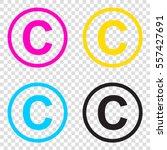 copyright sign illustration.... | Shutterstock .eps vector #557427691