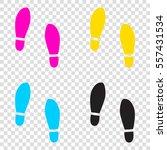 imprint soles shoes sign. cmyk...