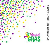 bright abstract dot mardi gras... | Shutterstock .eps vector #557432251