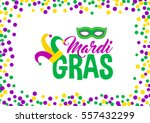 bright abstract dot mardi gras... | Shutterstock .eps vector #557432299