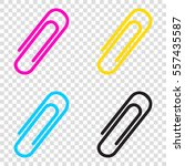 clip sign illustration. cmyk... | Shutterstock .eps vector #557435587