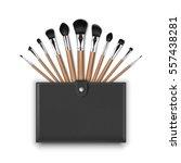 vector set of black clean... | Shutterstock .eps vector #557438281