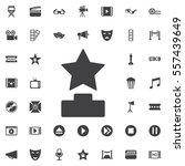 cinema festival award icon on... | Shutterstock .eps vector #557439649