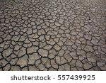 Dry Cracked Earth. The Desert....