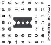 ticket icon in trendy flat... | Shutterstock .eps vector #557440165