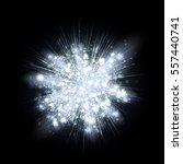 white silver light rays or... | Shutterstock . vector #557440741