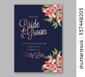 alstroemeria wedding invitation ... | Shutterstock .eps vector #557448205