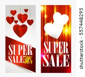 sale header or banner set with... | Shutterstock .eps vector #557448295