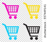 shopping cart sign. cmyk icons...