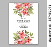 alstroemeria wedding invitation ... | Shutterstock .eps vector #557451091