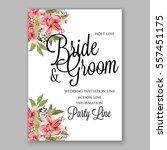 alstroemeria wedding invitation ... | Shutterstock .eps vector #557451175