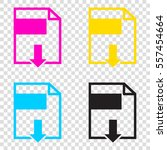 file download sign. cmyk icons... | Shutterstock .eps vector #557454664