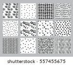vector set of hand drawn... | Shutterstock .eps vector #557455675