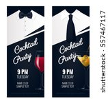 cocktail party invitation.... | Shutterstock .eps vector #557467117