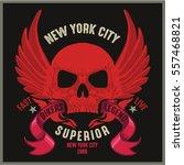 vintage biker graphics and... | Shutterstock .eps vector #557468821
