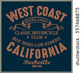 vintage biker graphics and... | Shutterstock .eps vector #557468875