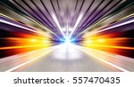 driving at high speed in tunnel ... | Shutterstock . vector #557470435