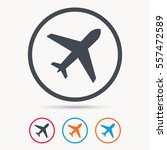 plane icon. flight transport... | Shutterstock .eps vector #557472589