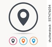 location icon. map pointer... | Shutterstock .eps vector #557476054