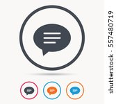 speech bubble icon. chat symbol.... | Shutterstock .eps vector #557480719