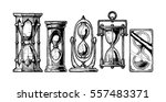 set of different hourglass in... | Shutterstock .eps vector #557483371