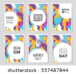 abstract vector layout... | Shutterstock .eps vector #557487844