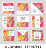 abstract vector layout... | Shutterstock .eps vector #557487961