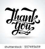 thank you card. vector black... | Shutterstock .eps vector #557495659