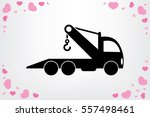 tow truck icon vector... | Shutterstock .eps vector #557498461