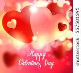 valentine. valentines day card. ... | Shutterstock .eps vector #557501395