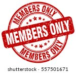 members only. stamp. red round...