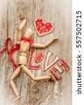 love valentines day background  ... | Shutterstock . vector #557502715