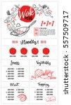 hand drawn vector illustration  ... | Shutterstock .eps vector #557509717