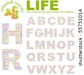 life. vector letter collection. ... | Shutterstock .eps vector #55751014
