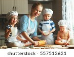 happy family in the kitchen.... | Shutterstock . vector #557512621
