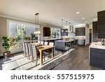 luxury new construction home... | Shutterstock . vector #557515975