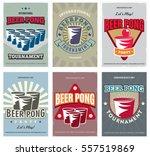 beer pong tournament posters... | Shutterstock .eps vector #557519869