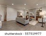 living room interior in gray... | Shutterstock . vector #557519977