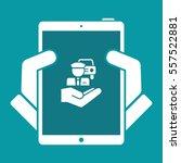 chauffeur service   minimal icon | Shutterstock .eps vector #557522881