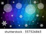 light blue green vector low... | Shutterstock .eps vector #557526865