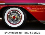 the white wall tires of a... | Shutterstock . vector #557531521